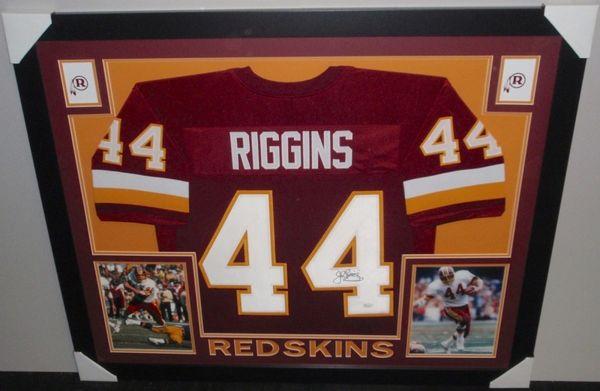 promo code e471a 5d655 Washington Redskins John Riggins Autographed Custom Framed Jersey, JSA