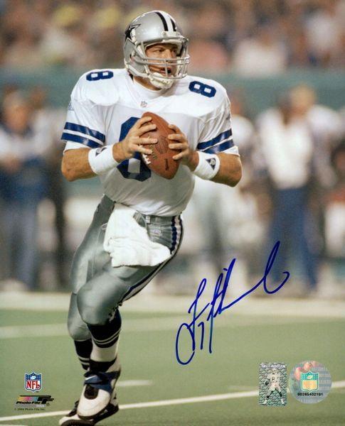 buy popular 4e206 dbe28 Dallas Cowboys Troy Aikman Autographed 8 x 10 Photo, Aikman Hologram