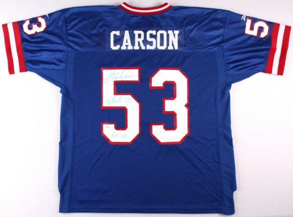 New York Giants Harry Carson Autographed Jersey Inscribed Ny Giants 1976 1988 And Hof 06 Jsa Hologram