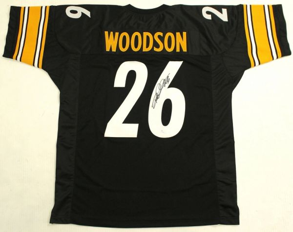 new product fa9a8 8ee74 Pittsburgh Steelers Rod Woodson Autographed Jersey, Inscribed