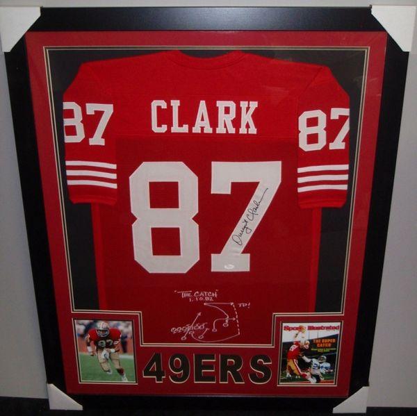 innovative design d2b6e e8d6e San Francisco 49ers Dwight Clark Autographed Custom Framed Jersey, JSA COA