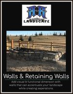 Adding visual  dimension, retaining walls that can accentuate your landscape, creating curb appeal