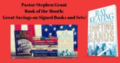 Book of the Month - Buy 9 Pastor Stephen Grant Adventures and Get SHIFTING SANDS Free - Signed Set