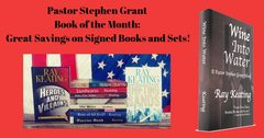 Book of the Month - Buy 9 Pastor Stephen Grant Adventures and Get WINE INTO WATER Free - Signed Set