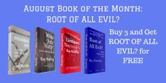 Book of the Month: Buy 3 - MURDERER'S ROW, WINE INTO WATER, and LIONHEARTS - and Get ROOT OF ALL EVIL? Free - Signed Set