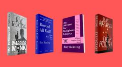 Book of the Month: Buy 3 - WARRIOR MONK, ROOT OF ALL EVIL?, and AN ADVENT FOR RELIGIOUS LIBERTY - and Get DEEP ROUGH Free - Signed Set