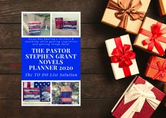 The Pastor Stephen Grant Novels Planner 2020: The TO DO List Solution - Pre-Order Sale!