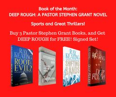 Book of the Month - Sports and Great Thrillers - Buy ROOT OF ALL EVIL?, MURDERER'S ROW, and SHIFTING SANDS, and Get DEEP ROUGH for FREE!