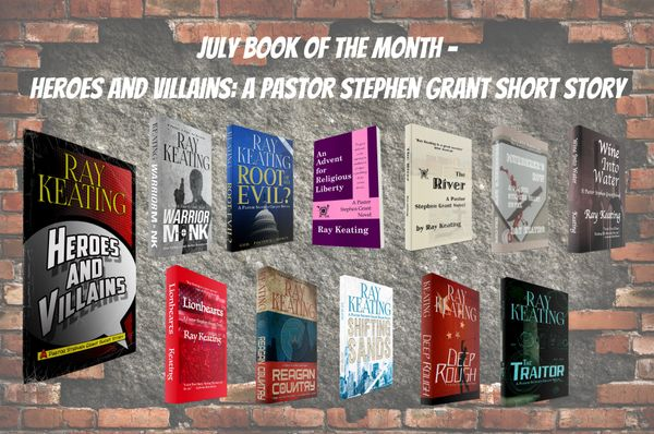 Book of the Month - Buy 11 Pastor Stephen Grant Adventures and Get HEROES AND VILLAINS for Free - Signed Set