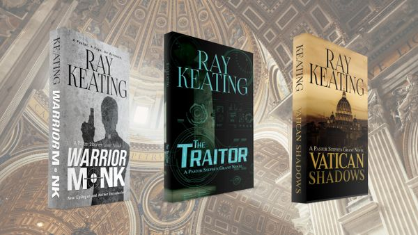 Pastor Stephen Grant Lutheran-Catholic Thriller Trilogy - Signed Copies of WARRIOR MONK, THE TRAITOR and VATICAN SHADOWS