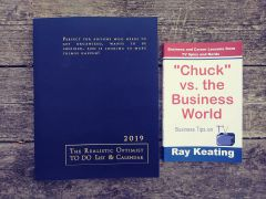 "SALE - Signed Double Pick - The Realistic Optimist TO DO List & Calendar 2019 + ""Chuck"" vs. the Business World: Business Tips on TV"