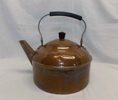 Vintage Revere Ware solid COPPER Tea Kettle