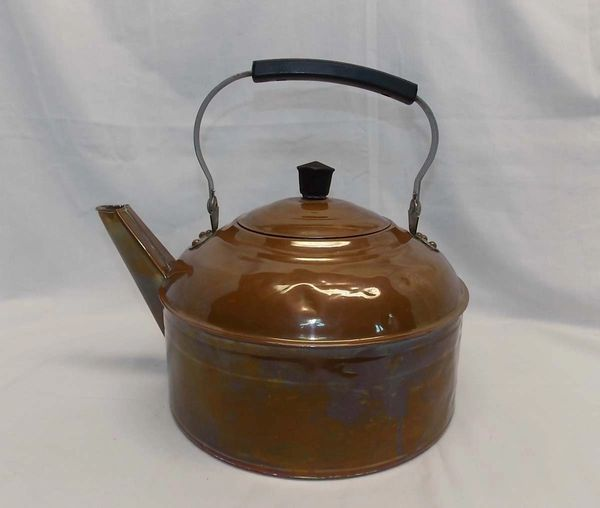 Vintage Revere Ware solid COPPER Tea Kettle