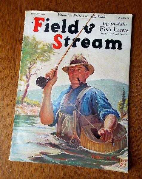 Field and Stream Magazine August 1933 RARE ISSUE