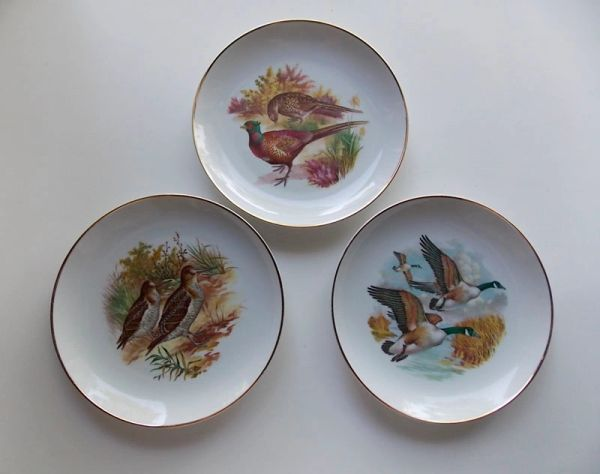 "Gamebird 7.5"" Plates by Naaman Israel – 3 pc. Set"