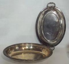 Antique Ellis Barker Covered Entrée or Vegetable Serving Dish