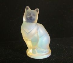 "Sabino FRANCE Opalescent Crystal 2"" Cat Figurine"
