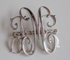 1920's Art Nouveau MONOCRAFT Script Initial Pin/Brooch F.M.E