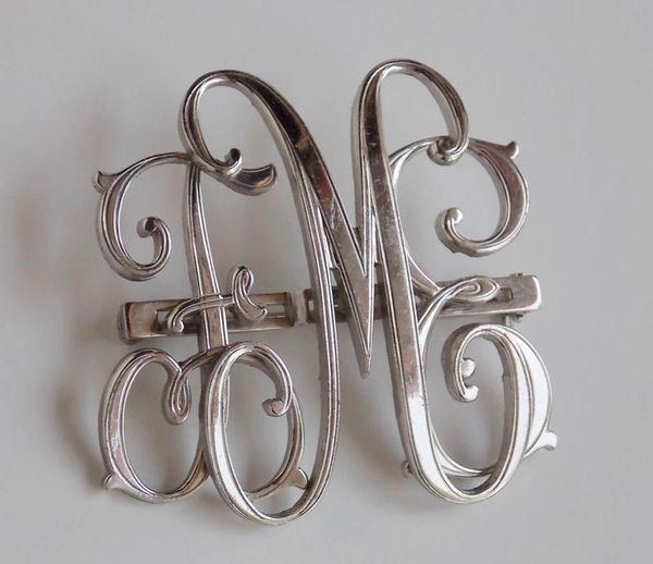 1920's Art Nouveau MONOCRAFT Script Initial Pin/Brooch F.M.E-SALE PENDING
