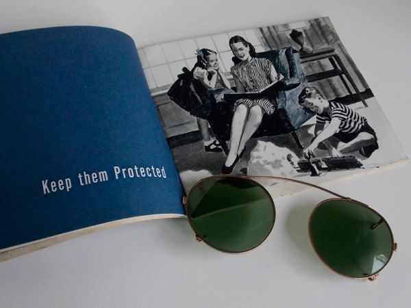 WWII Aviator Sunglass Clips and Going Back to Civilian Pamphlet - circa 1945