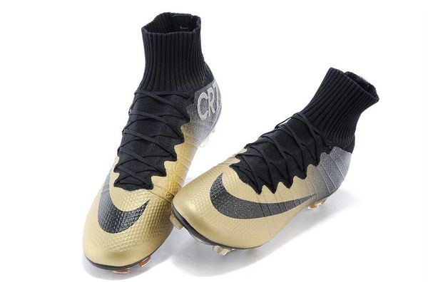 hot sale online 38233 f71b2 CR7 MERCURIAL CLEATS BLACK/GOLD+BAG
