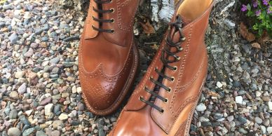 Enzo Bonafe'  4014 in Horween natural unglazed shell Cordovan SOLEGARB Leather Shoes handmade boots
