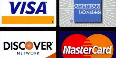 We Take all Credit Cards with a small transactional fee