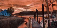 calabash II sunrise 10 x 20 inches, gicle'e high res canvas print signed and dated by artist.