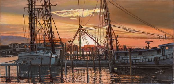 "WESLEY'S PRIDE II . 10""x 20"" gicle'e high rez canvas print. signed and dated by artist"