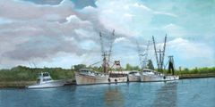 "Fleets In 16""x 32"" gicel'e high rez canvas print signed and dated by artist"