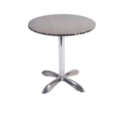"""Outdoor Restaurant Cafe Stainless Steel Table Top with Chrome Base 28"""" Round"""