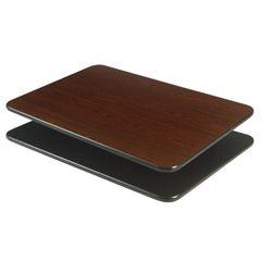 "Laminate Reversible Table Tops with Black Vinyl T-Mold Edge 24"" x 24"""