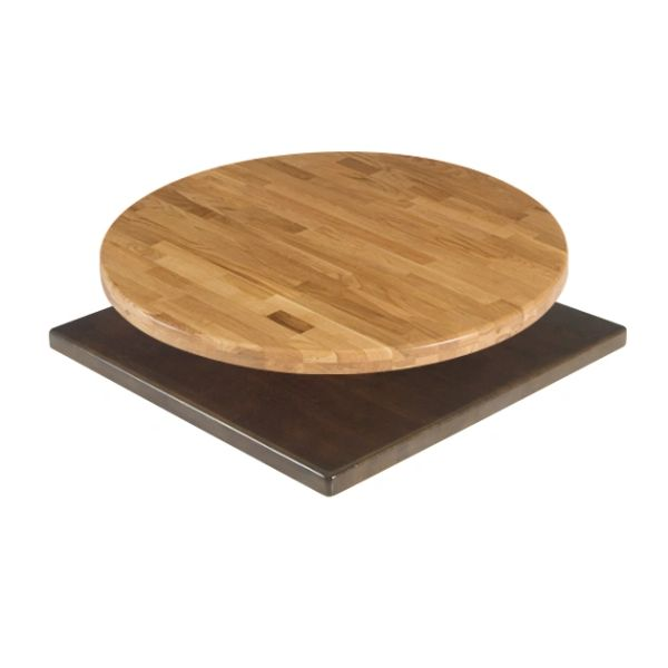 "Solid Wood Table Tops 1.5"" Thick Butcher Block with Eased Edge Quick Ship"