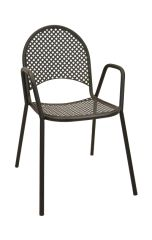 Outdoor Arm Chair Micro Mesh Restaurant Cafe
