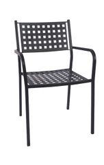Outdoor Arm Chair Macro Mesh Restaurant Cafe