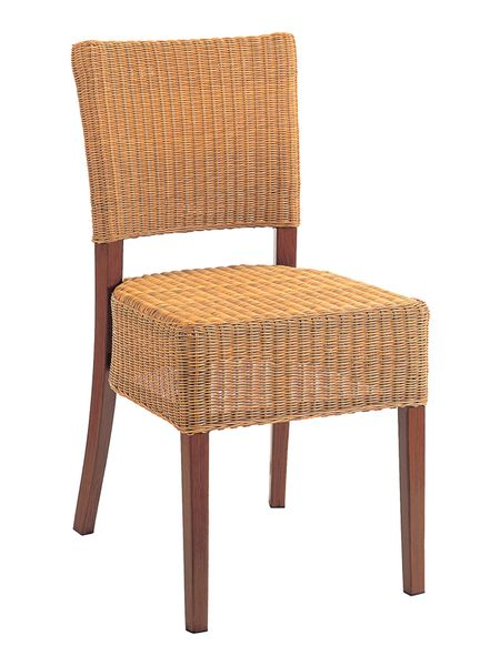 Outdoor Restaurant Cafe Side Chair Hand Painted Wood Finish Woven Seat and Back