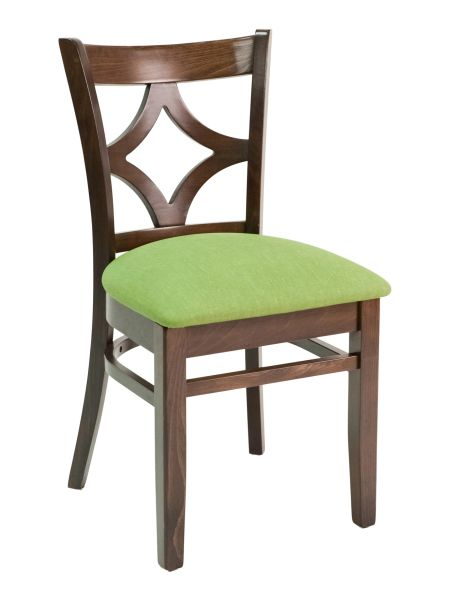 11. Wood Diamond Back Upholstered Padded Seat Restaurant Dining Chair