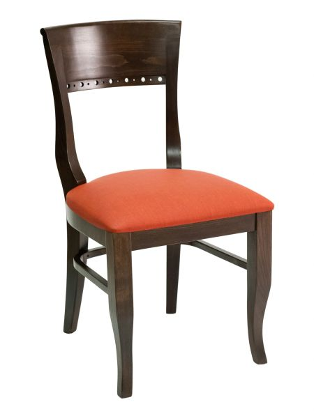 12. Wood Biedermeier Back Upholstered Padded Seat Restaurant Dining Chair