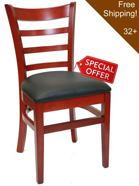 01. Wood Ladderback Restaurant Dining Chair