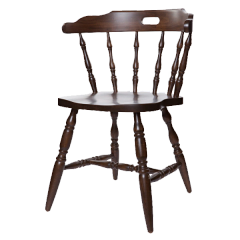 80. Captain's First Mate Chair Wood Frame Wood or Upholstered Seat