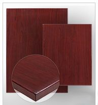 Resin Woodgrain Table Top 1.75 Inch Thick with Mahogany Finish
