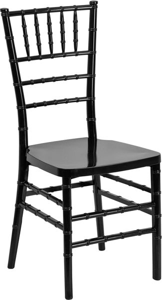 04. Resin Chiavari Chair Black Frame