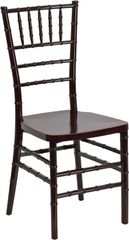 05. Resin Chiavari Chair Mahogany Frame