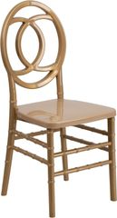 11. Resin Chiavari Royal Chair Gold Frame