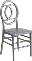 12. Resin Chiavari Royal Chair Silver Frame