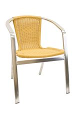 Outdoor Restaurant Cafe Arm Chair Natural Bamboo Finish Stackable