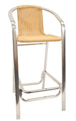 Outdoor Restaurant Cafe Arm Chair Natural Bamboo Finish