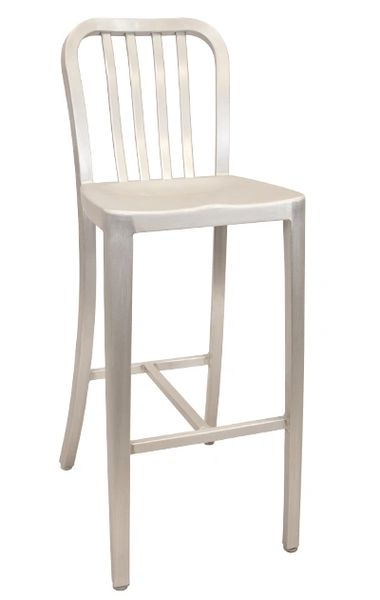 Outdoor All Aluminum Restaurant Cafe Navy Style Bar Stool