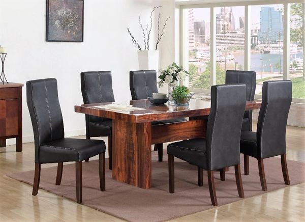 Italian Style Modern Dining Table Set Scientific Fashion Style