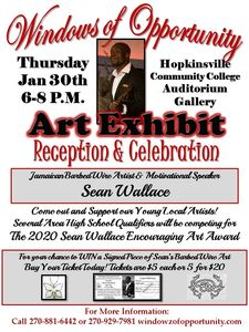 art exhibit, hopkinsville kentucky, community college, high school, artists
